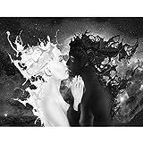 Papier peint intissé Café au lait 352 x 250 cm - Tapisserie Decoration Murale XXL Poster - Salon Appartement Photo d'art - 9222011a