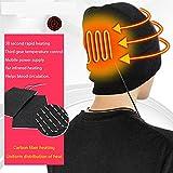 Chapeau Chauffant Bluetooth Bonnet d'hiver Homme Chaud Isolé Thermique Cap pour La Chasse Sports De Plein Air Chapeau d'automne Homme Chapeau De Pêcheur USB,Noir