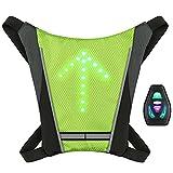 Lixada Vélo Sac à Dos USB Réfléchissant Attachement Clip avec Télécommande LED Signal Lumière Extérieure Sport Sac de Sécurité Gear pour Cyclisme Courir Marche Jogging