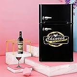 Réfrigérateur 108 litres autonome sous le comptoir Larder 86cm de haut A + Classe énergétique 48,5 cm de large [Classe énergétique A +] - noir