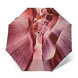 Parapluie Pliant, Parapluie Pliable Automatique Ouverture Et Fermeture Résistant à Tempête Compact Léger Parapluie De Voyage pour Homme Et Femme Grès du lit de la rivière