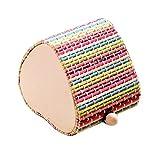 5 pièces d'amour créatif motif coloré boîtes à bijoux en bambou rideau