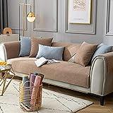 Homeen Couch Cover,Protecteur de Canapé,Couvertures de lit de canapé Moderne,Chenille Premium,Couverture de canapé antidérapante,Housse de canapé Universel pour Bureau,Salon-café_35 * 45 cm Oreiller