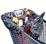 LARGE Protège chariot bébé supermarché *Chamssy* housse protection chaise haute avec sac de rangement, couverture avec sangles de sécurité enfant Hygiénique Pratique Lavable Pliable Portable