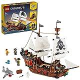 LEGO 31109 Creator Set Le Bateau Pirate, Auberge et Île au Crâne, Jeu 3-en-1, Jouet Créatif pour Enfants de 9 Ans et Plus, Idée de Cadeau