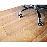 Giovara Tapis de chaise transparent avec rebord pour sols durs, haute résistance aux chocs, antidérapant, en matériau non recyclable - 90 x 120cm