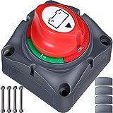 Master Switch batterie 12 V/24 V - batterie Cut Off - Master Isolateur de batterie Déconnecter commutateur batterie de voiture Kill Switch Accessoires pour RV Yacht Bateau Camion Bus Voiture Moto