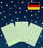 Paraboo Etoiles phosphorescentes et Autocollants Lumineux, Stickers muraux Beaux ou Stickers muraux pour Enfants et décoration pour Chambre à Coucher