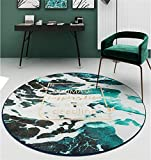 WJY Tapis Rond Balcon Canapé Salon Chambre Table Basse Moquette Vestiaire Ordinateur Chaise Pivotante Tapis De Yoga (Color : LS-106, Size : 150CM)