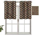 Hiiiman Lot de 2 rideaux occultants polygonaux en maille vive, 106,7 x 91,4 cm pour chambre à coucher, salon