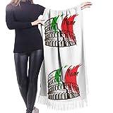 Yuanmeiju Écharpe longue mode femme Coliseum In Rome Italy Cashmere Scarf Women Warm SWraps & Pashminas