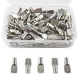 CZ Store®- Taquet etagere  100 pcs ✮✮Marque Française✮✮-support etagere  taquet 5mm taquet armoire/armoire metallique/tablette-goupille/cheville etagere en metal nickelé