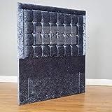 TopRest Belmont Tête de lit | Cubes Profonds boutonnés avec Diamants | Tissu Velours écrasé | Disponible en 10 Tailles | À Poser au Sol 137,2 cm | 61 cm Option tête de lit Disponible, W4ft6 x H24