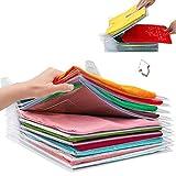 Nifogo Organisateur D'armoire & Planche à Plier Les VêTements, Closet Organizer T-Shirt Folder,Dossier de Fichiers de Classeur, Commodes, étagères, Placard (30PCS)