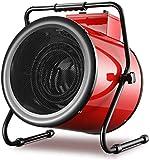 BUK Chauffage Tube de Chauffage en Acier Inoxydable Espace de Ventilateur électrique Industriel avec Thermostat réglable et Protection Contre la surchauffe - pour Garage d'atelier de Serre