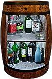 Armoire de bar Weeco LED. Casier à vin style rétro. Hauteur : 81 cm. Fût en bois massif