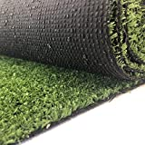 Carpeto Rugs Gazon Artificiel pour Balcon Terrasse Synthetique Exterieur Vert - Synthétique au mètre 400 Tailles Disponibles - 1m 1,33m 2m 3m 4m - 200 x 500 cm