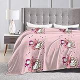 LuoYangShiLaoChengQuTianYuGangCaiXiaoShouBu Couverture en Flanelle Hello Kitty Couverture Douce et Chaude pour lit canapé Chaise Automne Hiver Printemps Salon