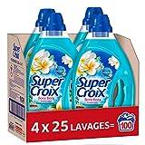 Super Croix Bora Bora – 100 Lavages (4 x 1.25L) – Lessive Liquide Parfum Fleur de Monoi