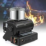 Chauffage à gaz en céramique - Chauffage d'extérieur - Chauffage portable - Pour pêcheur, chasseur, camping - 1300 W