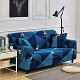 Housses de canapé élastiques pour Salon Extensible à Carreaux canapé Housse funda canapé Chaise Housse de canapé décor à la Maison A26 2 Places