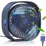 TedGem Ventilateur USB, Mini Ventilateur, Ventilateur Silencieux, Portable Ventilateur USB Silencieux 3 Vitesse Réglable USB, USB Ventilateur pour Camping, Bureau, Sport, Voyage, Alimenté par USB