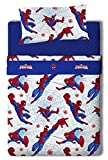 Marvel Spiderman Parure de lit 3 pièces en Coton/Polyester pour lit de 100/110cm Multicolore 200x 105x 25cm