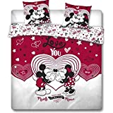 Gamesland Disney - Parure de lit 240X220 - Mickey Minnie Love You '100% Poly'