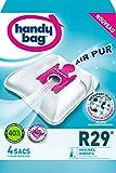 Melitta Handy Bag - R29 - 4 Sacs Aspirateurs, pour Aspirateurs Moulinex et Rowenta, Fermeture Hermétique, Filtre Anti-Allergène, Filtre Moteur