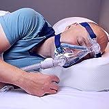 Oreiller CPAP oxyhero - réglable en Hauteur, relativement Ferme, adapté à Tous Les Masques CPAP, en Mousse à mémoire de Forme Haute Performance