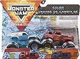 Monster Jam Official Colour-Changing Die-Cast Monster Trucks, 1:64 Scale Officiel vs. Grave Digger (1982 Rétro) Camions Monstres moulés sous Pression à Changement de Couleur, échelle 1/64, 6058835
