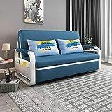Canapé-lit double pliant, Canapé-canapé sectionnel convertible, Chaise de siège de chaises longues réglable à 3 positions avec espace de rangement caché et 2 oreillers, Canapé-lit paresseux,B,1.5M