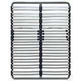 AltoBuy GREYLINE - Sommier 2x24 Lattes 140x190cm avec Régulateur Fermeté