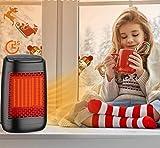 Mini Radiateur Soufflant, Parkarma Ventilateur de Chauffage Rapide 3s Chauffage Électrique Soufflant 1200W Protection Contre la Surchauffe Mini Chauffage Radiateur pour la Chambre ou Bureau