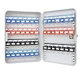 HMF 13049-07 Armoire à clés, Boîte à clés 49 crochets, 32 x 23 x 7,5 cm, gris clair