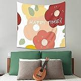 KHKJ Bonne journée Lettre Impression Tapisserie Nordique Simple décoration Murale Fille Chevet Suspendu Couverture A3 200x180 cm