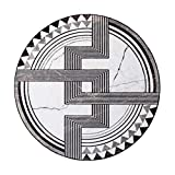 ZYYJ Tapis Tapis Unique Microfibre Loom Ensemble Confort en Peluche Pad Motif géométrique Abstrait Lap Carpet Restaurant décoration Tapis,200cm