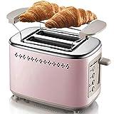 Toaster Grille-Pain Grille-pain à 2 tranches, en rétro Bagel Grille-pain Grille-pain 2 tranches Les mieux notés Prime large Machines à sous - 6 Toasters Réglages Browning, Bagel, Annuler, Fonction Def