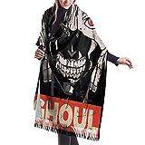 Yuanmeiju Écharpe longue mode femme Tokyo Ghoul Fashion Long Large Soft Cashmere Shawl Wrap Imitation Cashmere