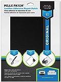 Pelle Patch - Pièce adhésive de réparation de Cuir et Vinyle - 25 Couleurs Disponibles - Original 20cm x 28cm - Noir