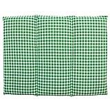 Coussin aux graines de colza - Taille 40x30-3 compartiments - Vert et Blanc - Coussin thermique - Coussin aux graines - Compresse froide -