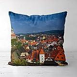 ASFDF Prague Square Throw Pillow Cover Couvre-oreillers décoratifs (16x16inch) Housses de Coussin Euro pour Ferme, canapé, canapé, Enfants, intérieur
