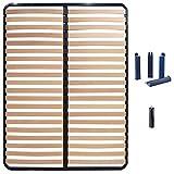 AltoBuy ALTOLATTES - Pack Sommier 2x20 Lattes 120x190cm + Pieds Bleus + Pied Central