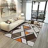 Nordic Modern Wash Home Carpet Table Basse canapé/lit de Chambre à Coucher/Salon/Salle de Bain/Bureau/étude Nouveau Tapis de Sol rectangulaire Tapis de Sol Simple Style géométrique créatif