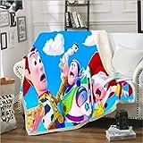lss Couverture pour Enfants de Bande dessinée Cartoon Toy Story Couverture multifonctionnelle Quatre Saisons Couverture Facile à Nettoyer canapé-lit Banc Confortable