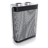 Brandson radiateur soufflant 1500 Watt - Deux Niveaux - Réglage continu de la température - Fonction d'oscillation économique - Fusible Thermique - Protection Contre la surchauffe