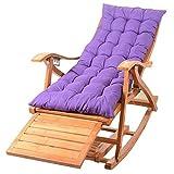 Chaise Longue en Bambou Pliable Portable Sieste Adulte avec Repose-Pieds rétractable pour terrasse