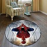 KegamiMisa Marvel Avengers Spiderman Tapis Rond Tapis Doux Enfants Tapis Chambre Décor À La Maison Antidérapant Plancher Chaise Tapis 60 Cm