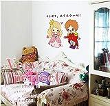 Sticker mural Son Altesse Royale Le Couple Couleur Autocollants Transparents Petite Mode Créative Décoration de La Maison Coller Sur Le Mur