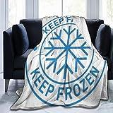 AIKIBELL Couverture en Micro-Polaire Ultra-Douce,Les Aliments Gardent Le Stockage congelé dans Le réfrigérateur et Le congélateur,Couverture Chaude décorative pour canapé-lit,60'X 50'